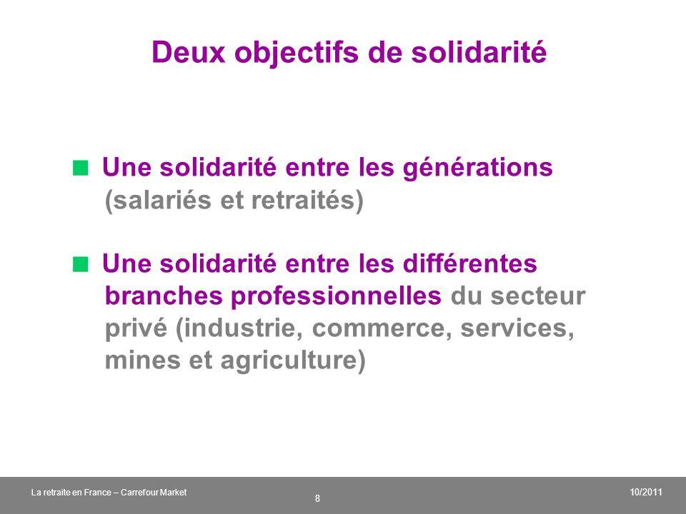 Deux objectifs de solidarité