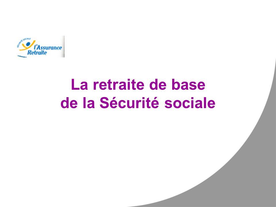 La retraite de base de la Sécurité sociale