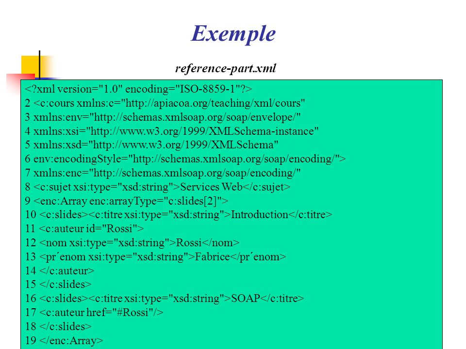 Exemple reference-part.xml