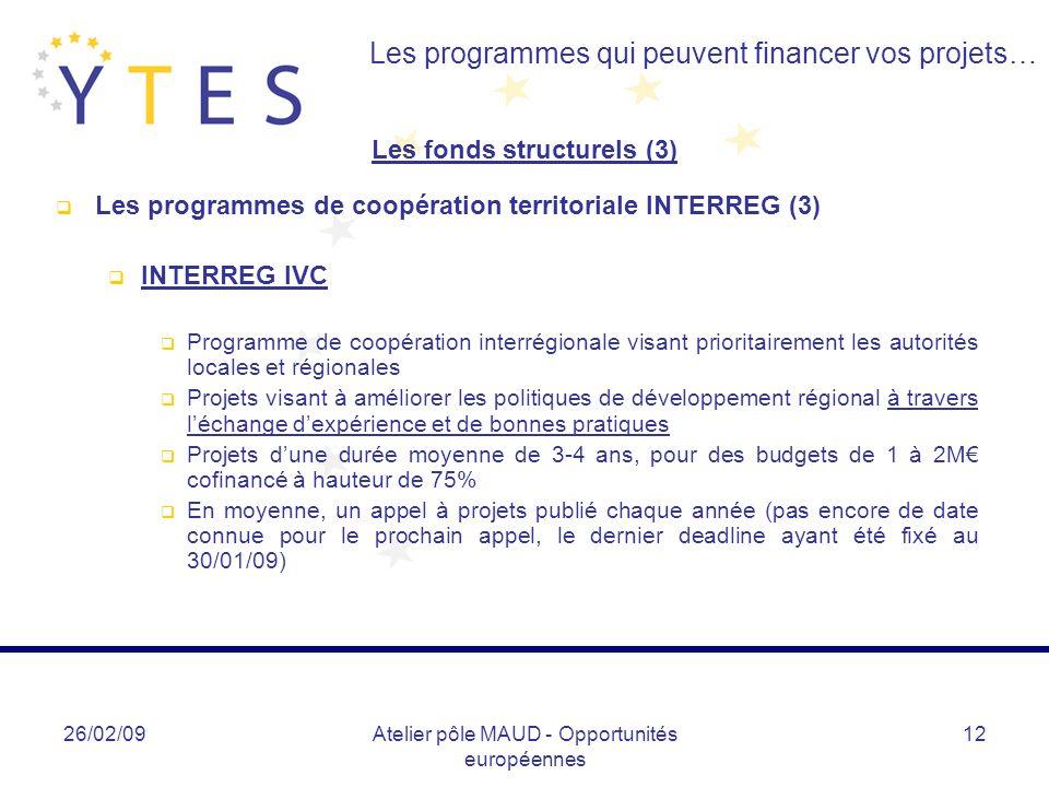 Les fonds structurels (3)