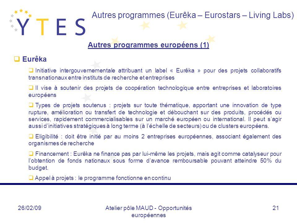 Autres programmes européens (1)