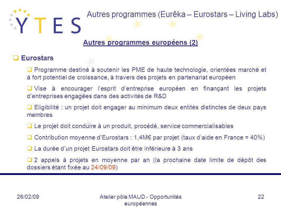 Autres programmes européens (2)