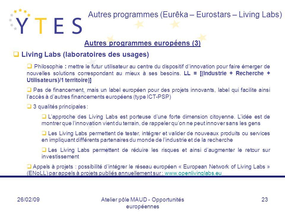 Autres programmes européens (3)