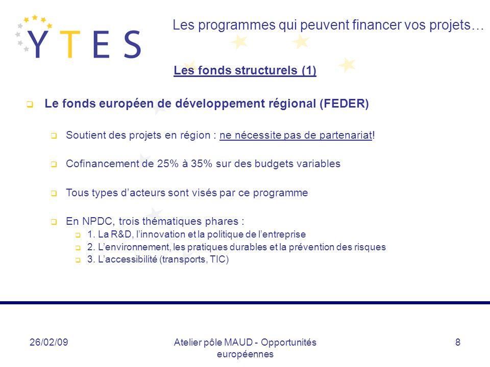 Les fonds structurels (1)