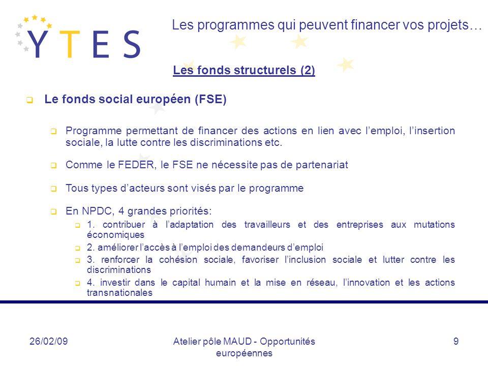 Les fonds structurels (2)