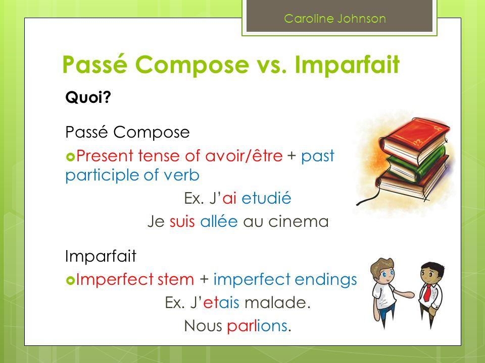 Passé Compose vs. Imparfait