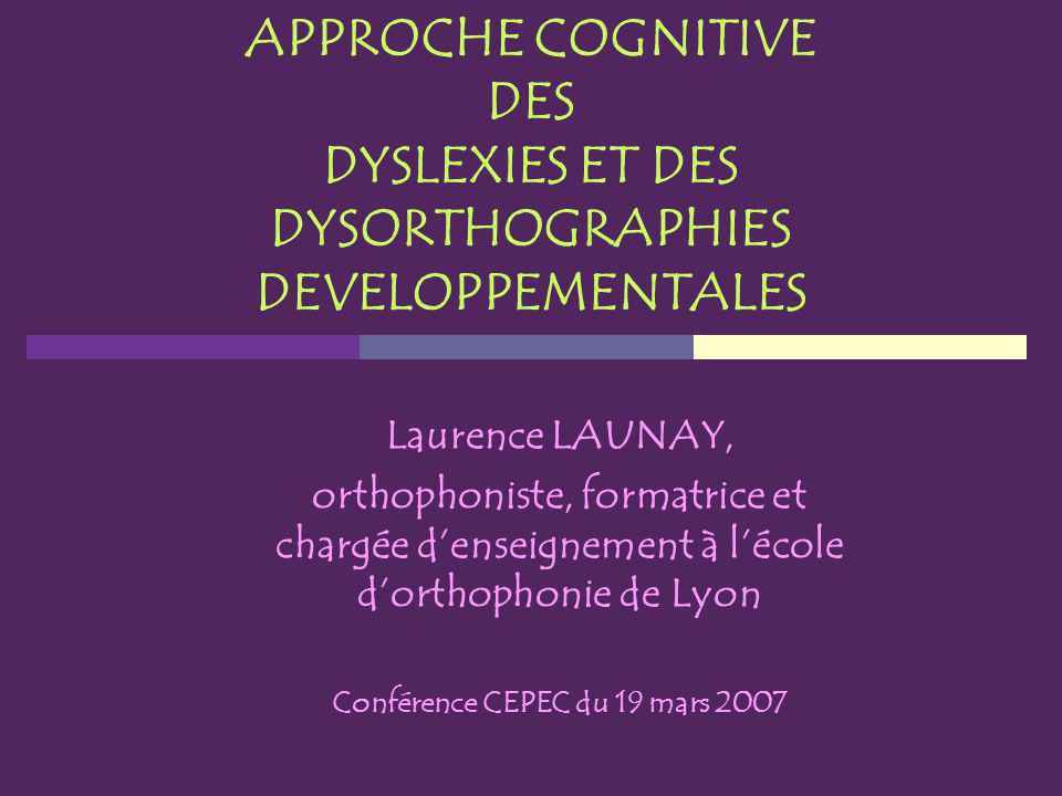 Conférence CEPEC du 19 mars 2007