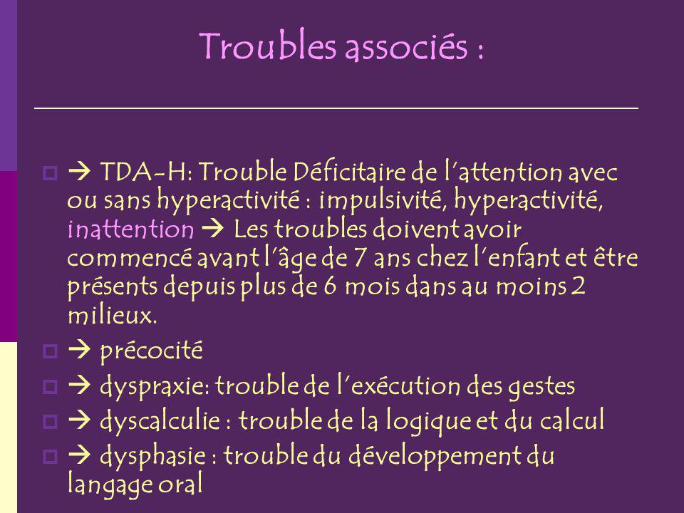 Troubles associés :