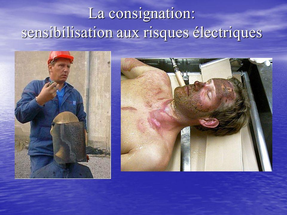 La consignation: sensibilisation aux risques électriques