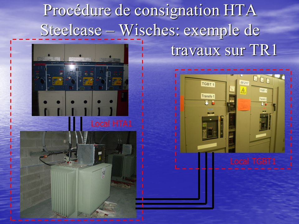 Procédure de consignation HTA Steelcase – Wisches: exemple de travaux sur TR1