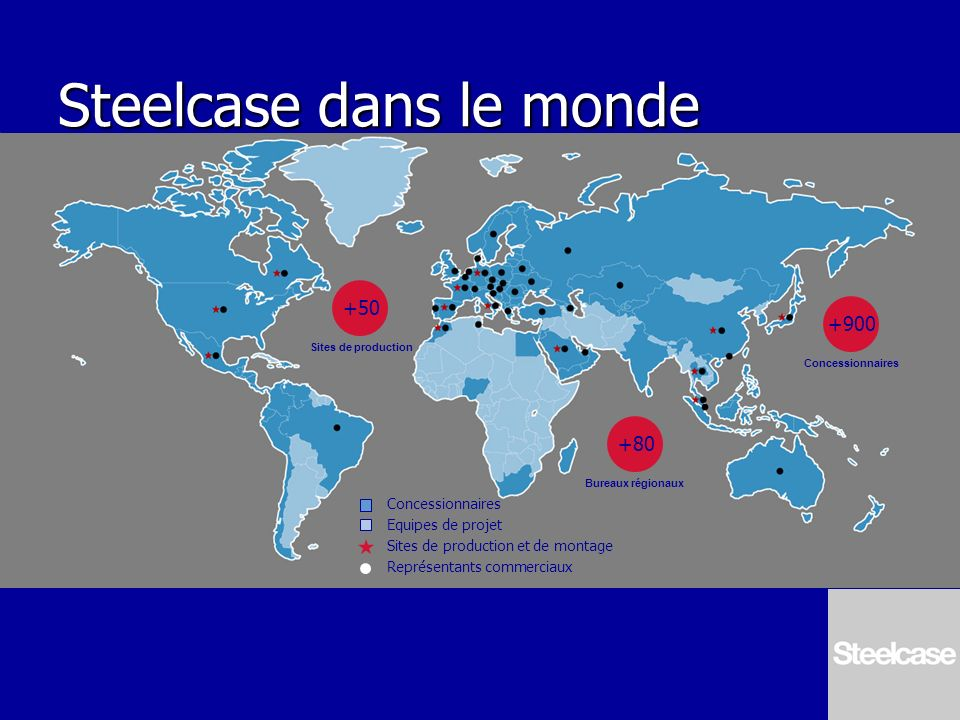 Steelcase dans le monde