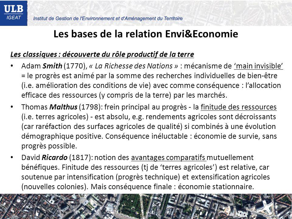 Les bases de la relation Envi&Economie
