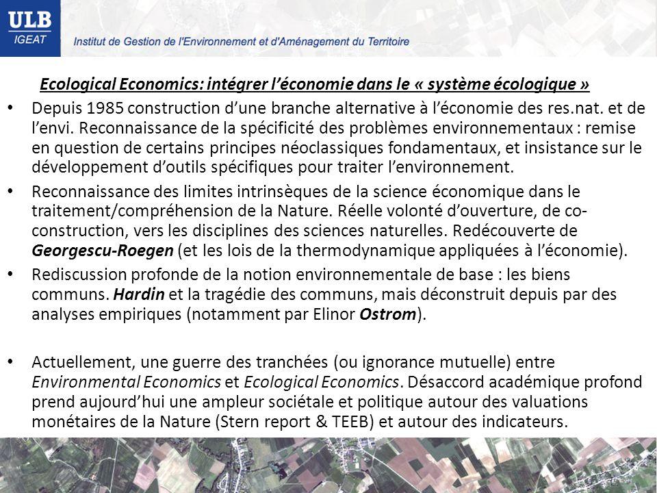 Ecological Economics: intégrer l'économie dans le « système écologique »