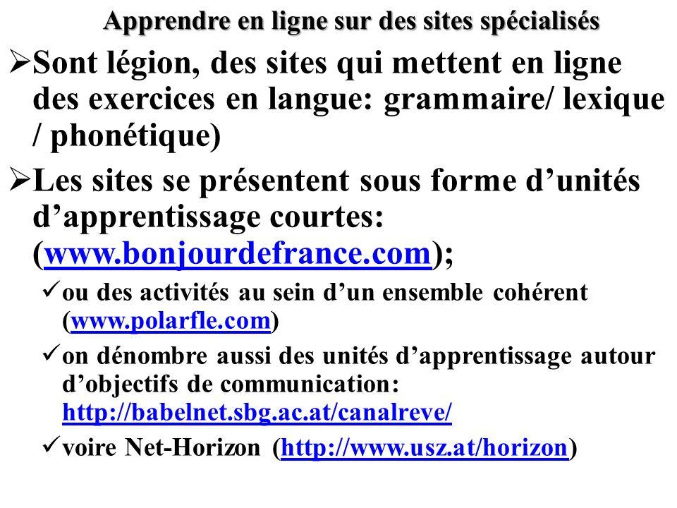 Apprendre en ligne sur des sites spécialisés