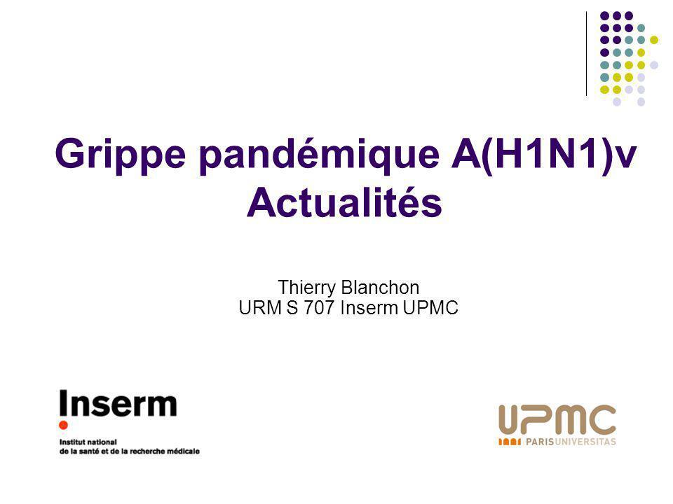 Grippe pandémique A(H1N1)v Actualités