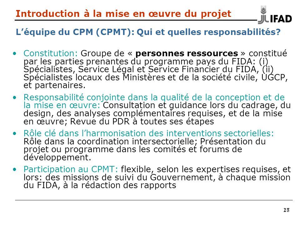Introduction à la mise en œuvre du projet