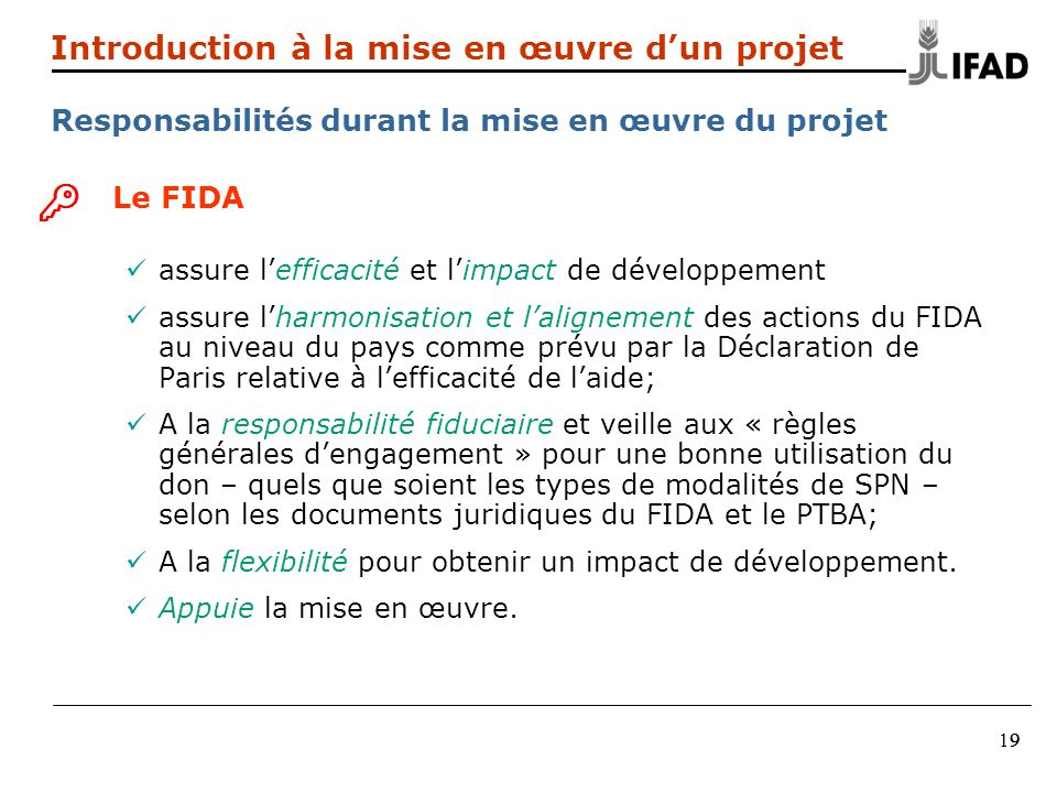 Introduction à la mise en œuvre d'un projet