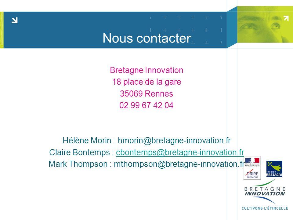 Nous contacter Bretagne Innovation 18 place de la gare 35069 Rennes