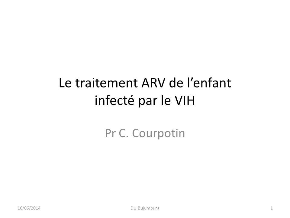 Le traitement ARV de l'enfant infecté par le VIH