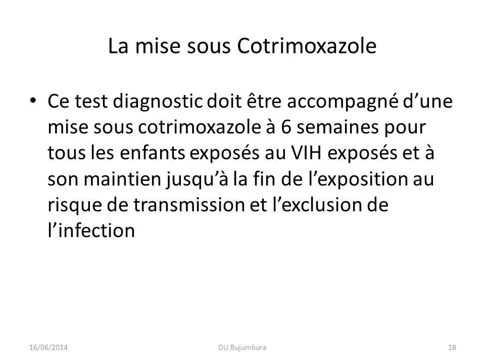La mise sous Cotrimoxazole