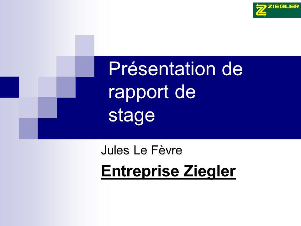 Présentation de rapport de stage