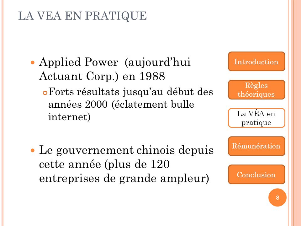 Applied Power (aujourd'hui Actuant Corp.) en 1988