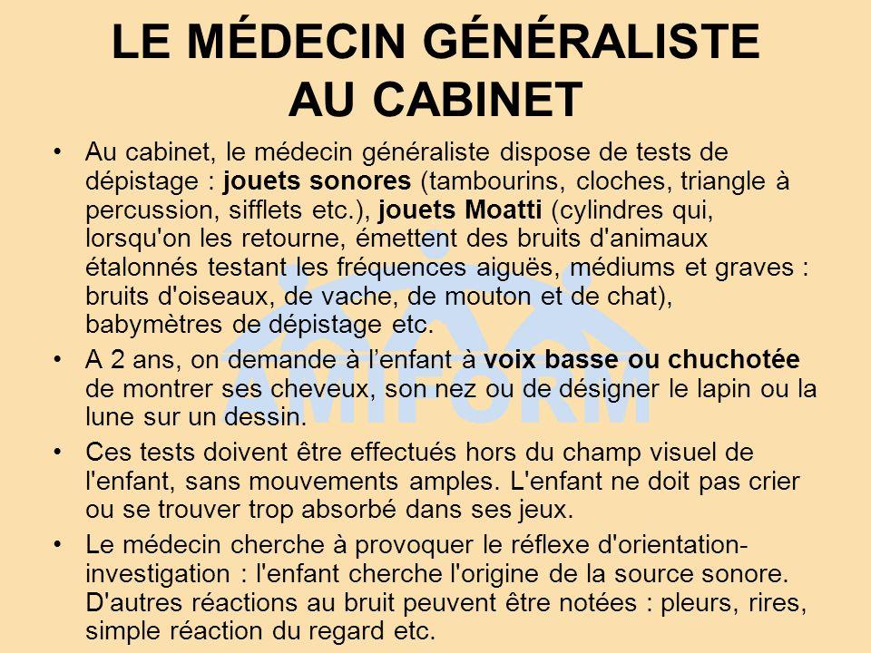 LE MÉDECIN GÉNÉRALISTE AU CABINET