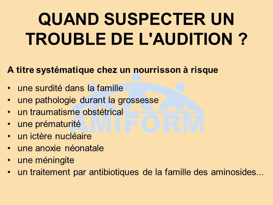 QUAND SUSPECTER UN TROUBLE DE L AUDITION