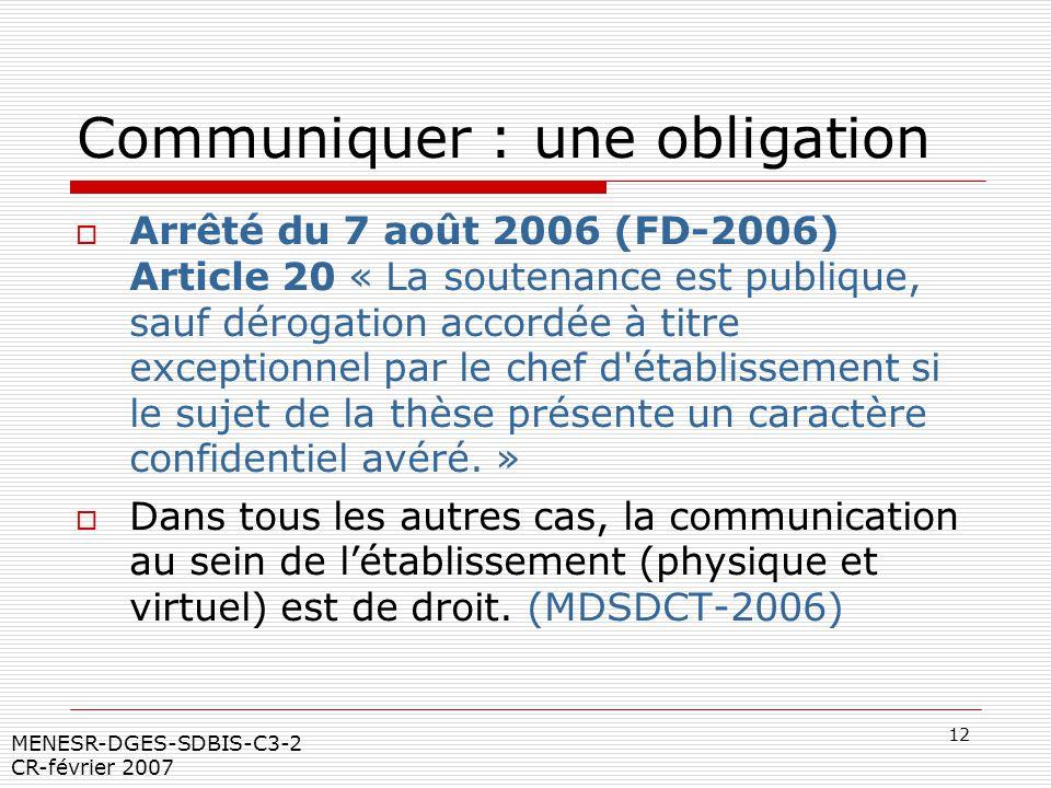 Communiquer : une obligation