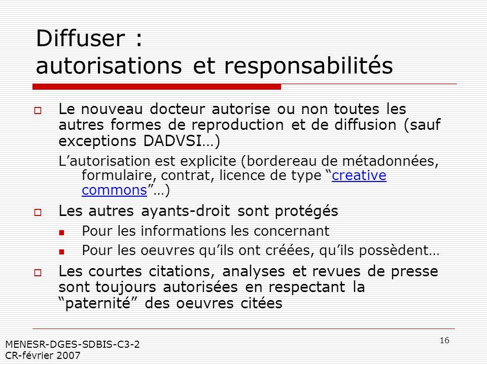 Diffuser : autorisations et responsabilités