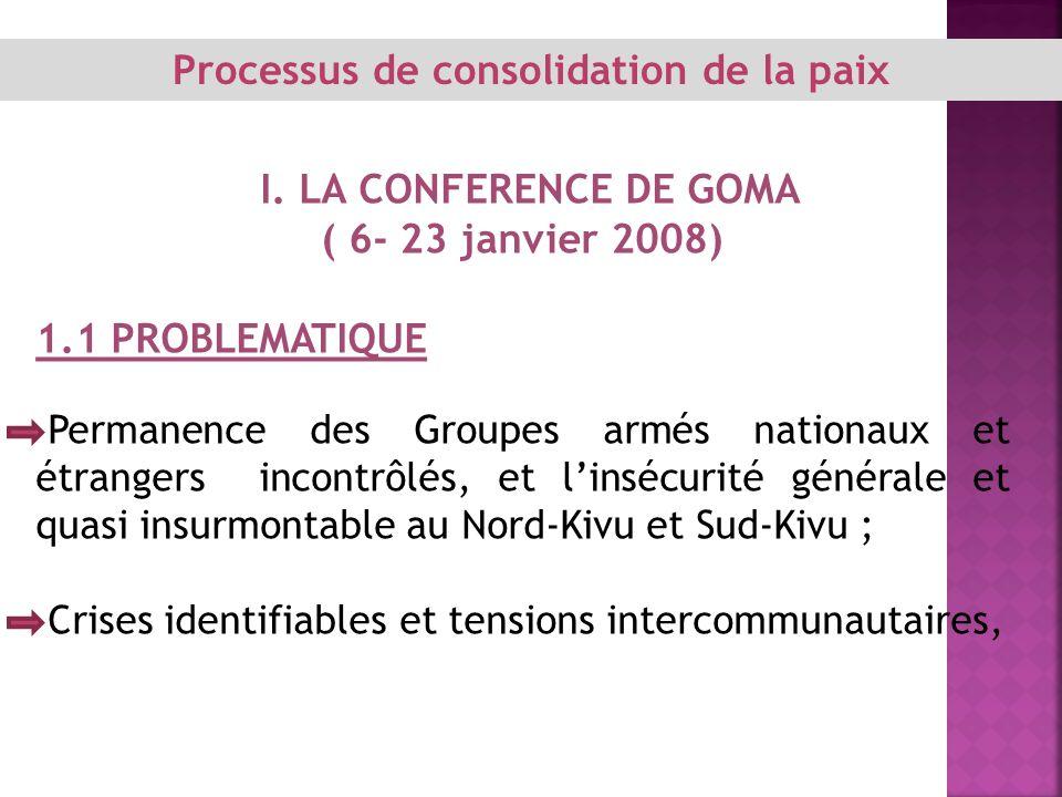 Processus de consolidation de la paix