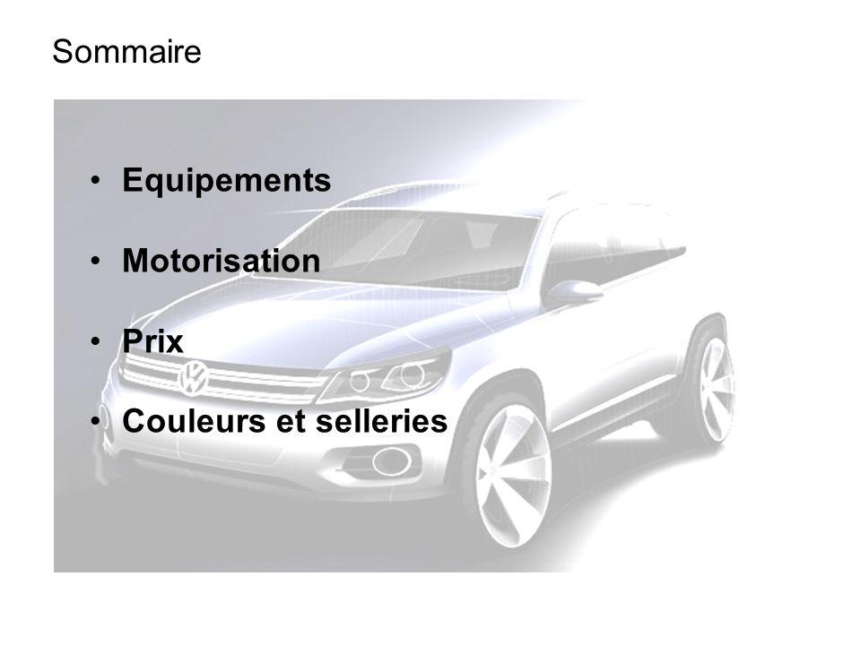 Sommaire Equipements Motorisation Prix Couleurs et selleries