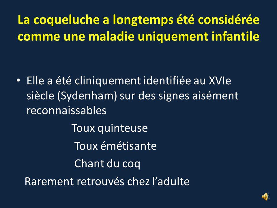 La coqueluche a longtemps été considérée comme une maladie uniquement infantile
