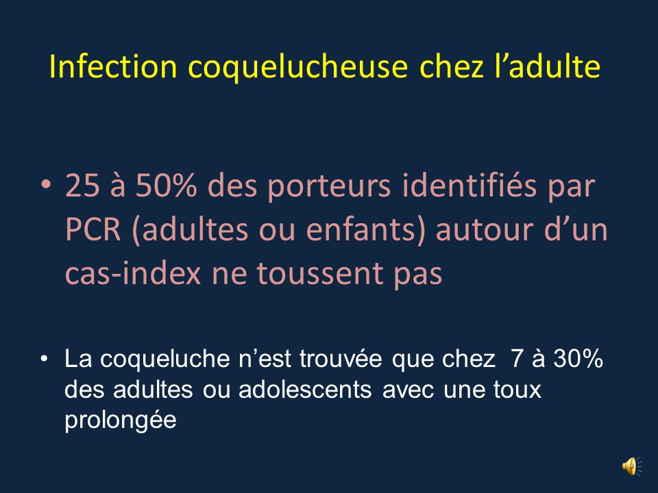 Infection coquelucheuse chez l'adulte