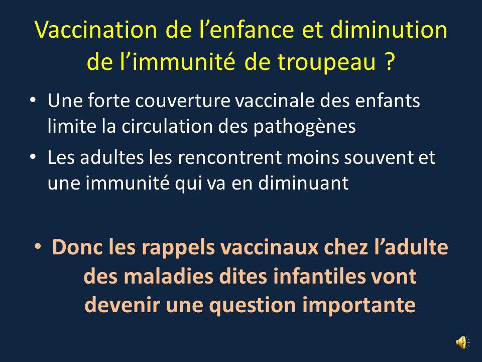 Vaccination de l'enfance et diminution de l'immunité de troupeau