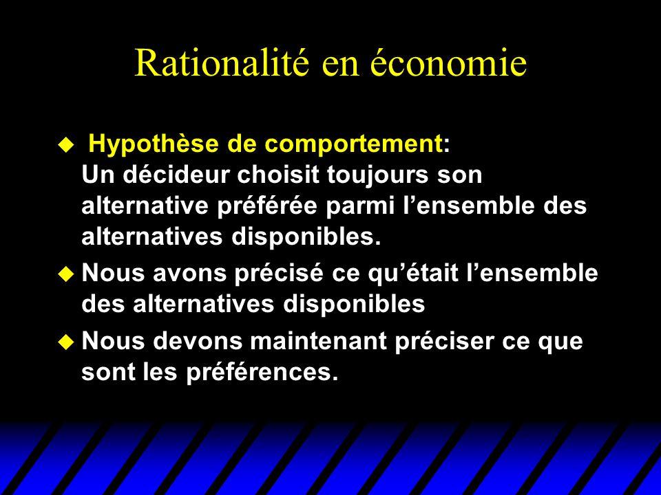 Rationalité en économie
