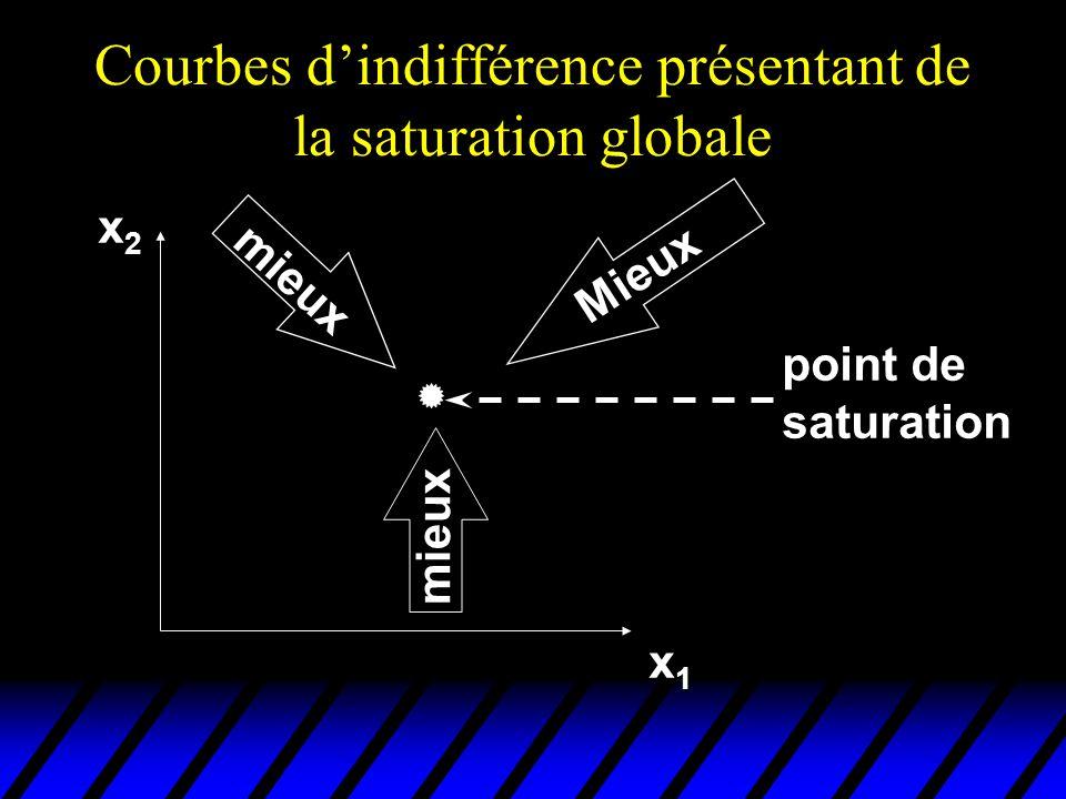 Courbes d'indifférence présentant de la saturation globale