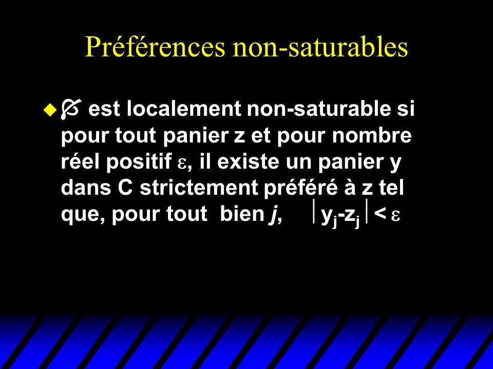 Préférences non-saturables