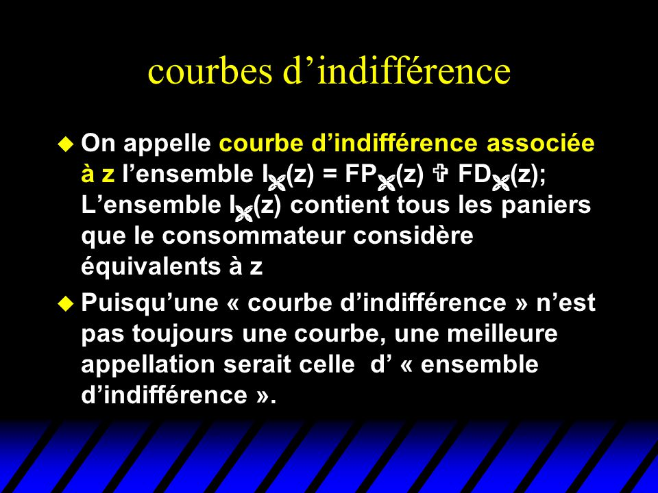 courbes d'indifférence