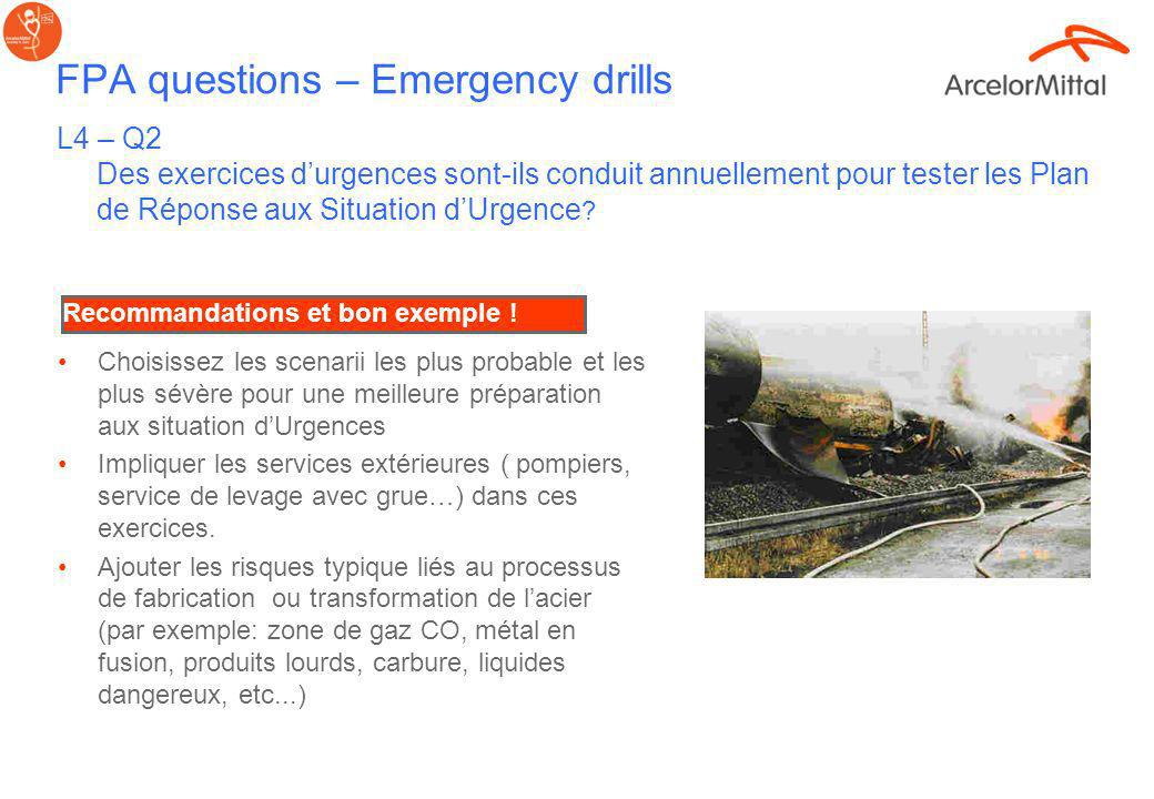 FPA questions – Emergency drills