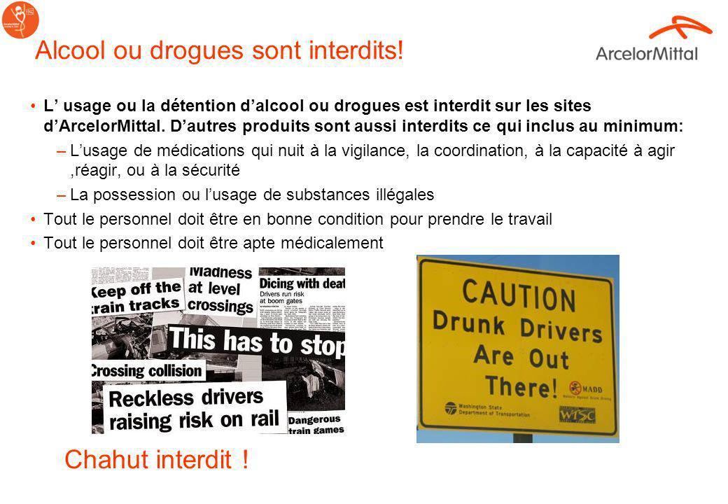 Alcool ou drogues sont interdits!