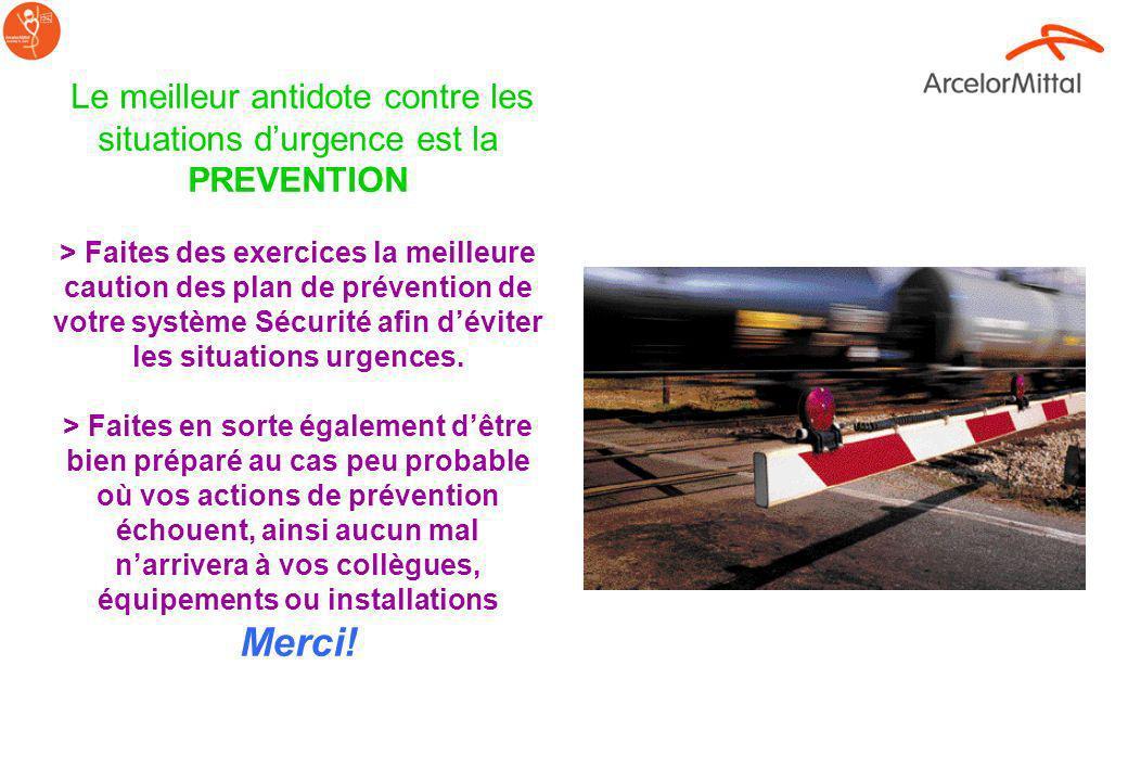 Le meilleur antidote contre les situations d'urgence est la PREVENTION > Faites des exercices la meilleure caution des plan de prévention de votre système Sécurité afin d'éviter les situations urgences.