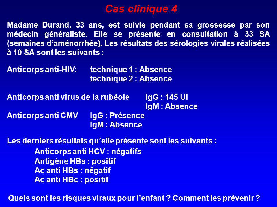Cas clinique 4 Anticorps anti HCV : négatifs