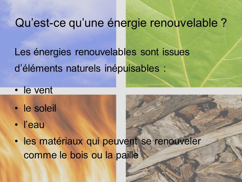 Qu'est-ce qu'une énergie renouvelable