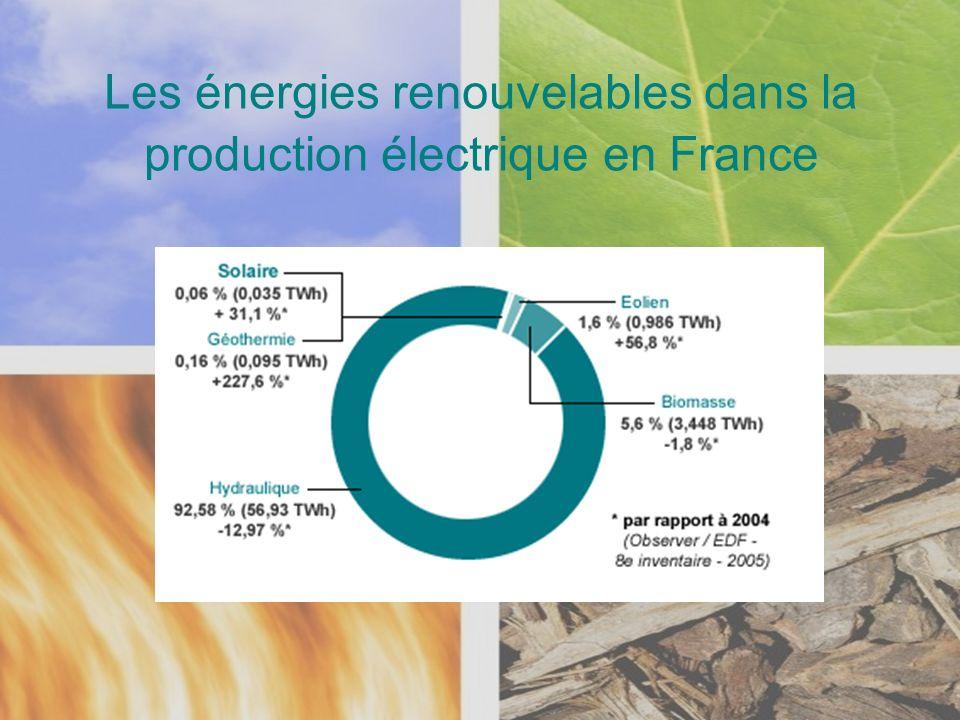 Les énergies renouvelables dans la production électrique en France