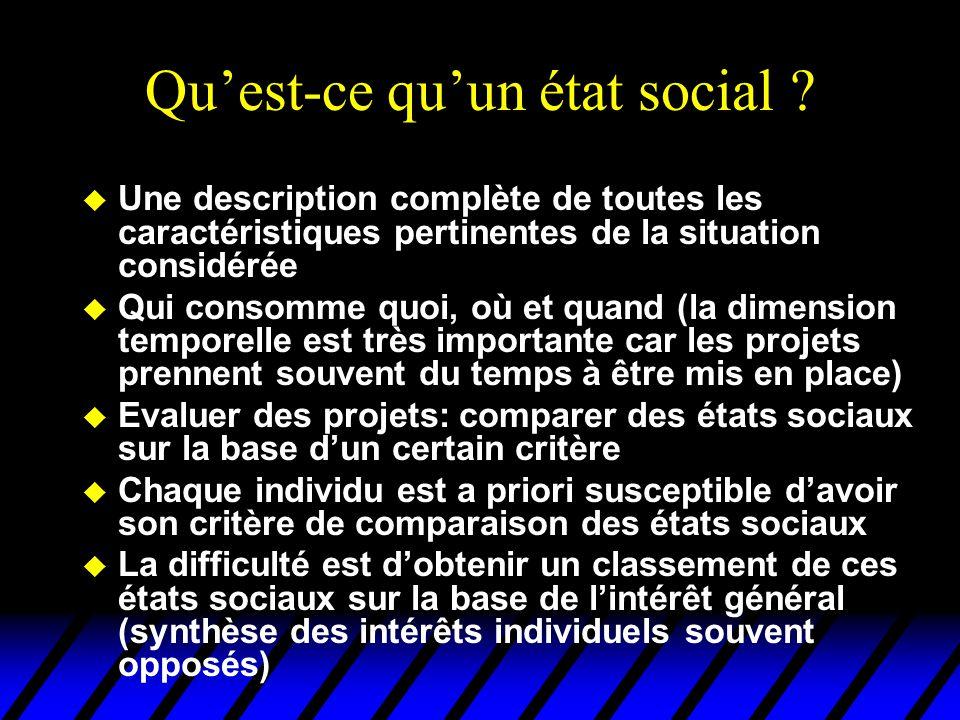 Qu'est-ce qu'un état social