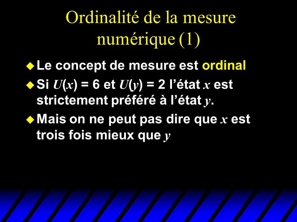 Ordinalité de la mesure numérique (1)