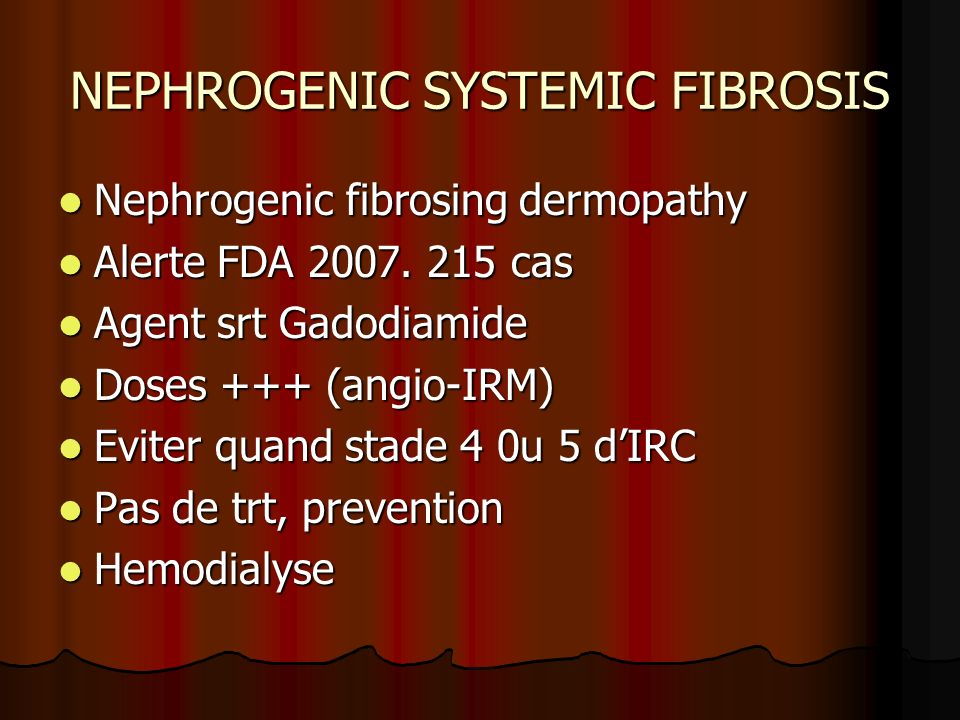 NEPHROGENIC SYSTEMIC FIBROSIS