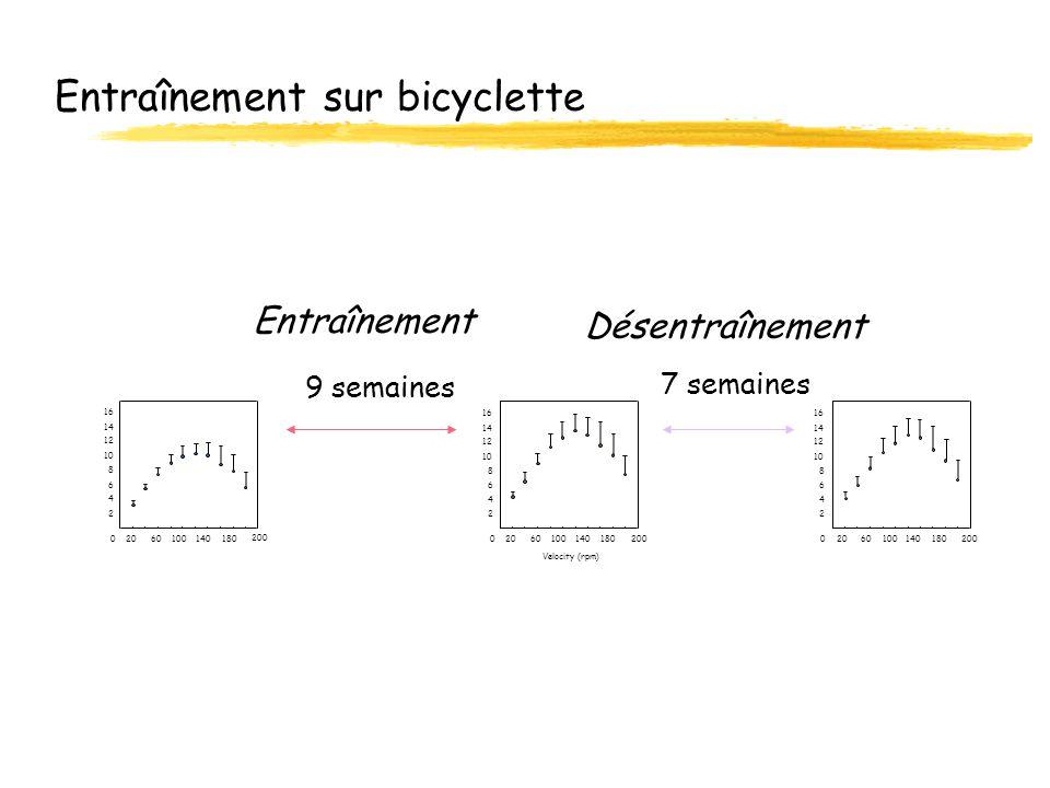 Entraînement sur bicyclette