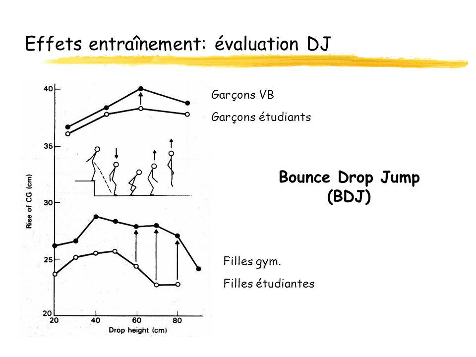 Effets entraînement: évaluation DJ